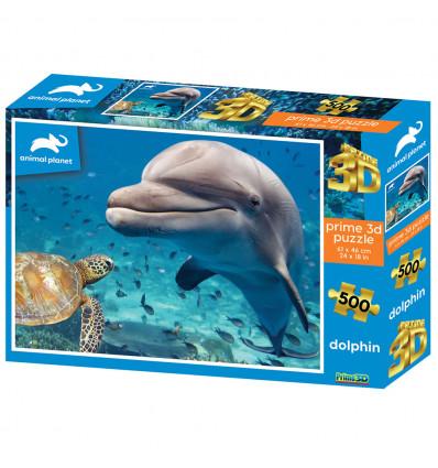 SESTAVLJANKA 3D - DELFIN 500 KOS 61x46cm ANIMAL PLANET