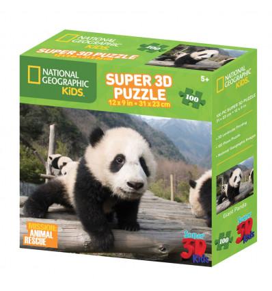SESTAVLJANKA 3D - PANDA 100 KOS 31x23cm ANIMAL PLANET