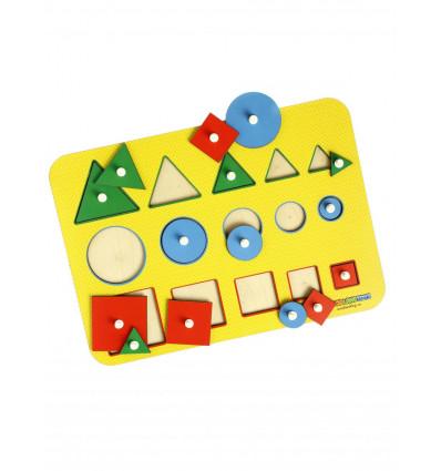 Otroška razvojna igrača Montessori Več - manj