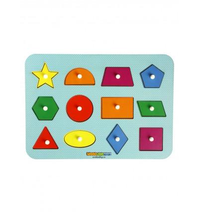 Otroška razvojna igrača Montessori Geometrijski liki in barva