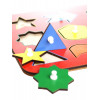 Otroška razvojna igrača Montessori Geometrijski liki