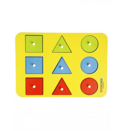 Otroške razvojne igrače Montessori Oblika + barva 1