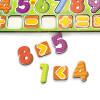 Otroška razvojna igrača za učenje številk s primeri, barvna