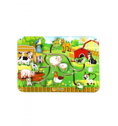 Otroška razvojna igrača Labirint – živalski pari 1
