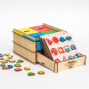 Otroška razvojna igrača Predalnik - geometrijski liki